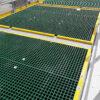 QuartzGrip Standard GRP Open Mesh Grating shown in situ covering water treatment tanks