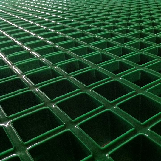 Cloe-up of Concave Open Mesh GRP Grating