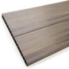 Close up of RecoDeck Ancient Wood composite Decking boards showing the slip-resistant smooth side