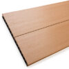 Close up of RecoDeck Maple composite Decking boards showing the slip-resistant smooth side
