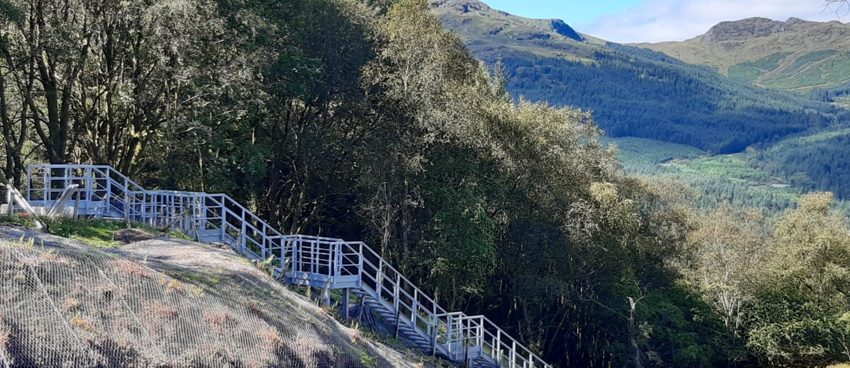 Glen Douglas Embankment Staircase