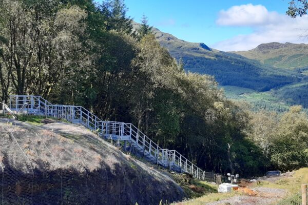 Glen Douglas Embankment Staircase
