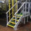 GRP Maintenance platform with access ladder and handrail