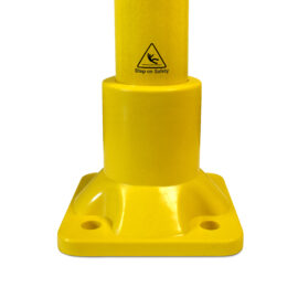 Close up showing a SafeClamp square base