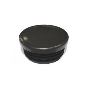 Black plastic end cap for SafeClamp tubes