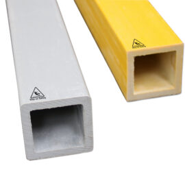 Close-up shotof two sizes of GRP Box structural profiles