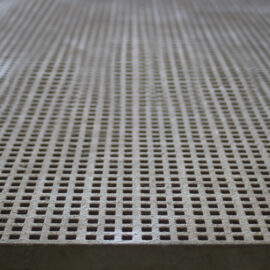 Close up of beige micro mesh grating