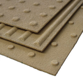 Close up of all three tactile plate styles